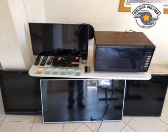 PM recupera objetos furtados em três bairros de Avaré