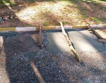 Após mulher cair e se ferir, Prefeitura faz reparos em calçadas na CAIC