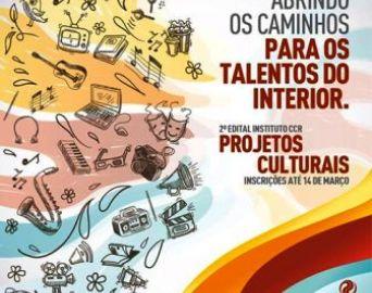 Artistas da região poderão se inscrever no 2º edital do Instituto CCR