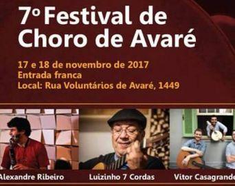 7º Festival de Choro de Avaré será nos dias 17 e 18