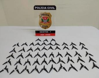 Homem é preso em Avaré pela Polícia Civil com 160 pinos de cocaína