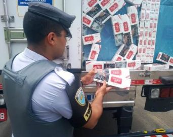 Tático Rodoviário apreende cigarros contrabandeados na Castelo