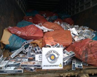 TOR apreende mais de meio milhão de maços de cigarros contrabandeados