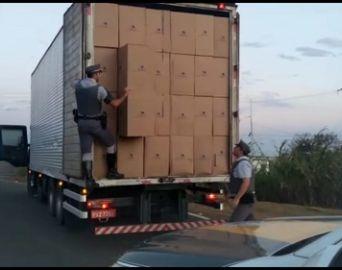 Equipe do TOR apreende carga com 350 mil maços de cigarros contrabandeados