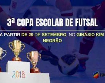 Secretaria de Esportes prepara 3ª Copa Escolar de Futsal