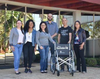 Colégio de Avaré troca sua quarta cadeira de rodas
