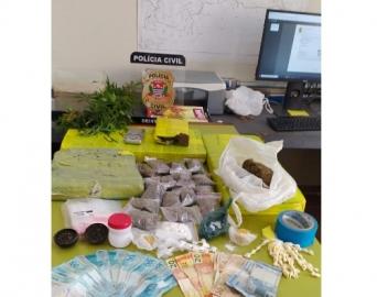 Operação da Polícia Civil apreende mais de 11 quilos de drogas