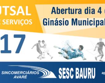 Copa Futsal do Comércio e Serviços começa nesta terça