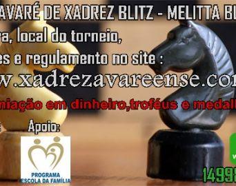 Abertas inscrições para a IV Copa Avaré de Xadrez Blitz