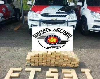 Traficante é preso com mais de 100 kg de maconha