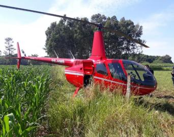 Helicóptero que fez pouso forçado em Ponta Porã partiu de Avaré