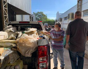 Polícia Civil incinera toneladas de maconha apreendidas na Castello Branco