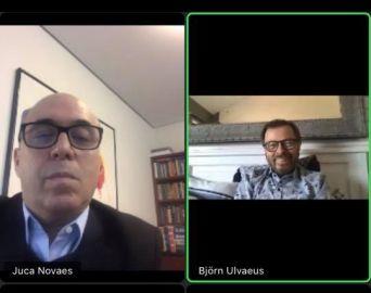 Juca Novaes participa de reunião virtual com integrante do lendário grupo Abba