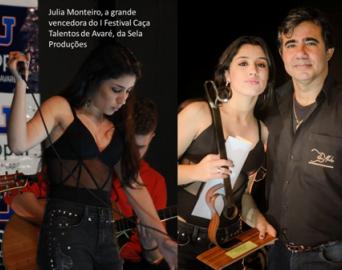Júlia Monteiro vence o 1º Festival Caça Talentos de Avaré