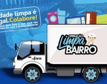 Prefeitura promove operação Limpa Bairro a partir do dia 20