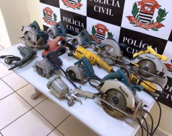 Polícia esclarece furtos em construções e recupera máquinas