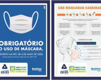 ACIA disponibiliza para associados material sobre o uso de máscaras no comércio