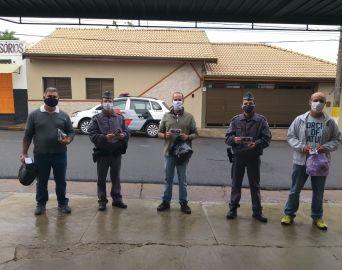 Polícia Militar participa da Ação Máscara é Vida em Avaré