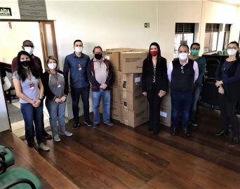 Secretaria da Saúde recebe doação de kits de máscaras de proteção