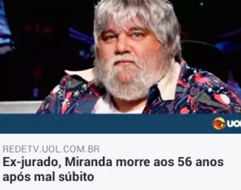 Banda avareense já passou pelo crivo de Miranda, falecido ontem