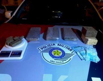 Polícia Militar prende homem com 3,6 kg de maconha