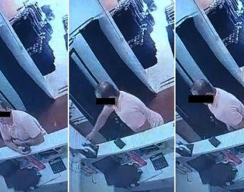 Câmeras flagram padre roubando perfume em loja de roupas