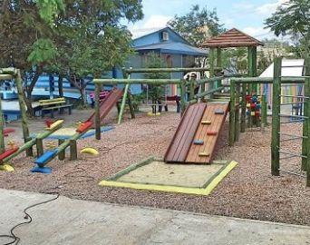 CAIC vai receber moderno parque em madeira para as crianças