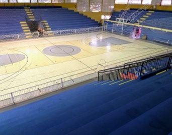 Pintura interna do Ginásio de Esportes Kim Negrão é concluída