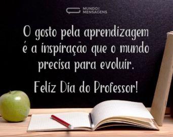 Feliz Dia do Professsor a todos os profissionais da área