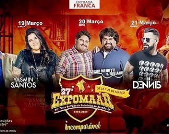 Expomaar em Arandu tem programação de shows definida