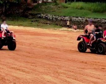 Quadriciclo é apreendido em prainha de Itaí