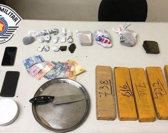Polícia apreende tijolos de maconha e trio é preso em Avaré