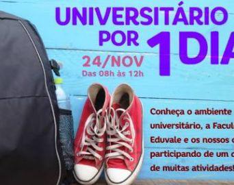 Eduvale promove o Universitário Por 1 Dia