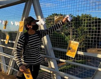 Avaré recebe varal de máscara hoje na passarela da SP-255