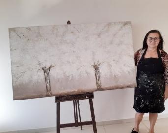Artista finaliza quadros sobre Avaré que serão exportados para os EUA