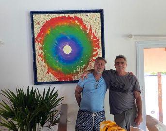 Zilando Freitas esteve em Avaré e presenteou amigo com mais uma obra