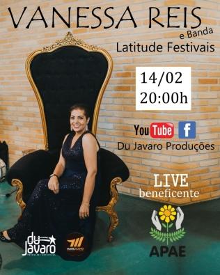 Vanessa Reis fará live em prol da APAE de Avaré