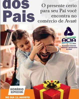 Comércio tem horário especial por causa do Dia dos Pais