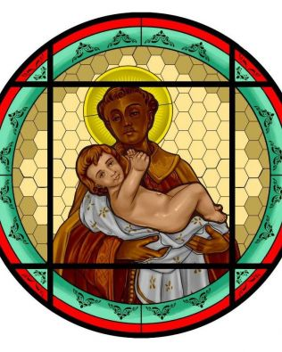 Novo vitral vai ornamentar fachada da igreja de São Benedito